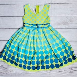3/$25 iris & ivy Dress Polka Dot Bow Sz5